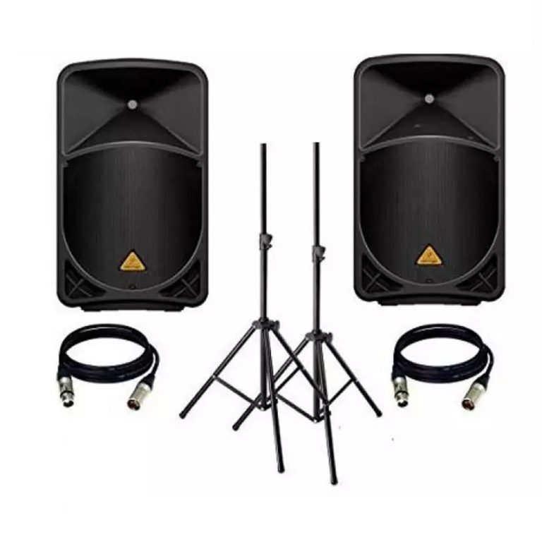 Behringer 1000-Watt PA System Package Small Hall for 1-200 Person (Free stand and Cable)