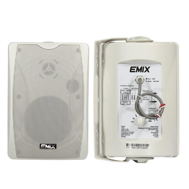 Emix EMWS-884W 6″ 40W Wall Mount Speaker