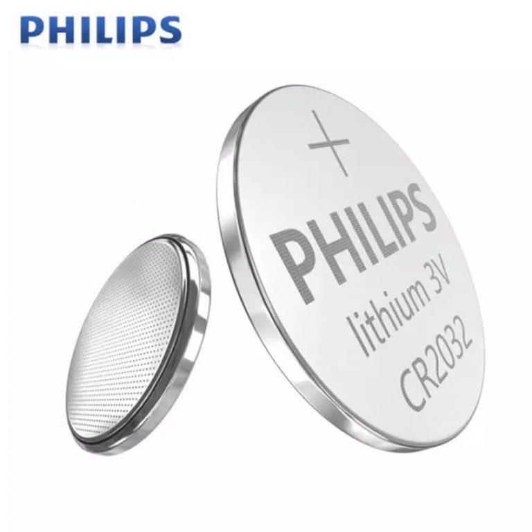 PHILIPS [𝗢𝗥𝗜𝗚𝗜𝗡𝗔𝗟] CR2032 3V Lithium Battery (5 cells pack)