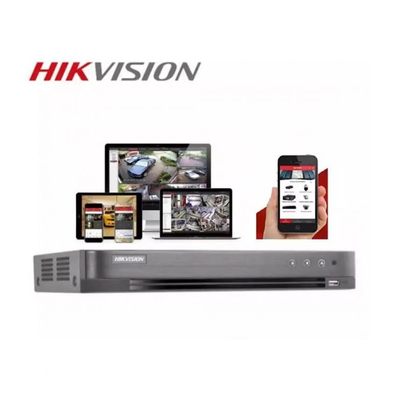 Hikvision DS-7204HQHI-K1 4 Channel Turbo HD 4MP H.265 / H.265+ Compression Full HD Digital Video Recorder (DVR) with Network and Mobile phone remote viewing