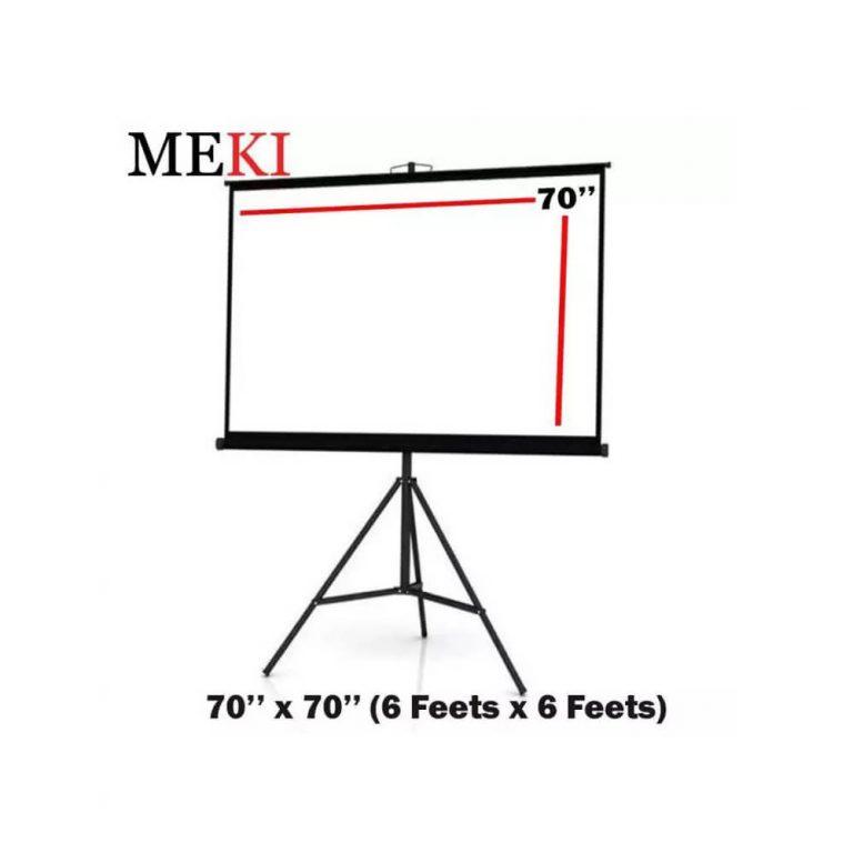 Meki Solid Series Tripod Projector Screen Size 70″ X 70″ ( 6 X 6 Feets)