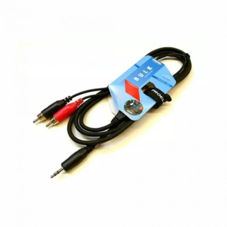 PROEL 6.35MM MONO PLUG TO 2 x RCA PLUG AUDIO CABLE-3METER